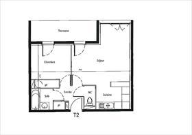 Appartement - CASTELGINEST - Appartement T2 avec jardin - 31780 CASTELGINEST