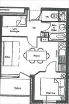 Appartement - TERMIGNON - APPARTEMENT 6 PERSONNES - 30.32 M²