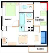 Appartement - TERMIGNON - APPARTEMENT 6 PERSONNES - 30.78 M²
