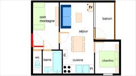 Appartement - TERMIGNON - APPARTEMENT 6 PERSONNES - 31.86 M²