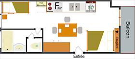 Appartement - CEILLAC - STUDIO 3 PERS 2* LE CHEYNET 1 F23