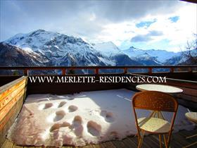 Appartement - ORCIERES - Studio avec grande terrasse - Jolie vue!