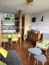 Appartment/Flat - ORCIERES - Studio Cabine en dernier étage en façade